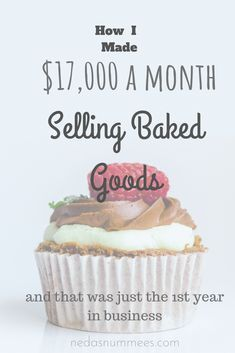 How I made my Year, Starting a Baking Business About actually in my year of business. What does it take to open a tiny bakery and earn big money? The story of how I did it! How I started a bakery business without knowing a thing about business. Bakery Business Plan, Food Business Ideas, Baking Business, Cake Business, Business Planning, Business Marketing, Content Marketing, Business Tips, Internet Marketing