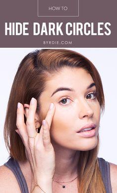How to cover up even the darkest of under eye circles, with celebrity makeup artist Lauren Andersen. // #beauty #makeup #tutorial