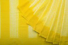 Happy Summer Yellow  Shwet Handwoven Shibori Cotton Sari 1024416 - Brands / Saris / Shwet - Parisera