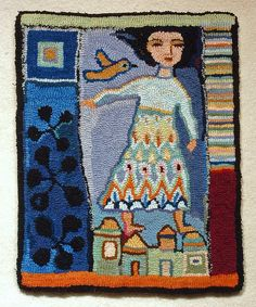 Rug Hooking by Ann Willey Penny Rugs, Rug Inspiration, Hand Hooked Rugs, Textiles, Arte Popular, Wool Applique, Tapestry Weaving, Handmade Rugs, Handmade Crafts