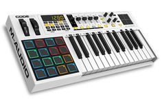 M-Audio presents its Code Series keyboard controllers, a family of three full-featured models, combining all of the production power and performance you need to get the most from your music software a