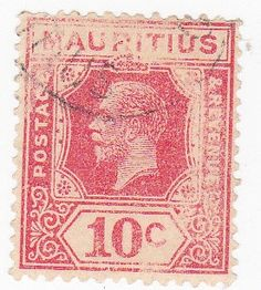 1920s Mauritius 10c or 10 Cent Postage Stamp by onetime on Etsy, $0.50