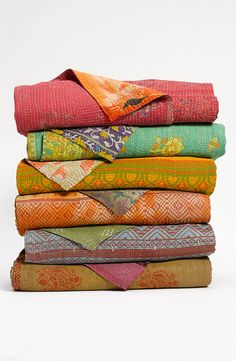 Wholesale SET OF 5 Kantha Quilt, Sari Indian Quilt, Quilted Bedspreads, Throws, Gudari handmade tapestery Reversible Bedding-blanket
