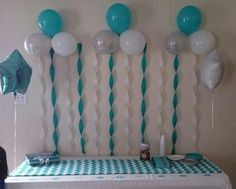 Balloons and Streamers - 27 Super Cute Baby Shower Decorations to Make Your Party the Best ...