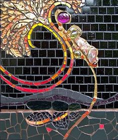 mosaic front porch idea