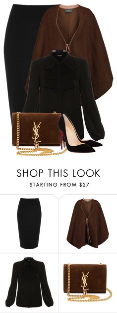 """""""Untitled #6385"""" by cassandra-cafone-wright ❤ liked on Polyvore featuring River Island, Joseph, Elie Tahari, Yves Saint Laurent and Christian Louboutin"""