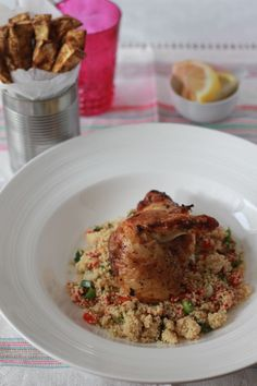 Baked Celeriac Chips with Chicken... perfect