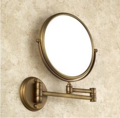 47.49$  Buy here - http://aiwzq.worlditems.win/all/product.php?id=1996232004 - Antique bronze brass wall makeup mirror 8inch bathroom mirror antique decorative makeup mirrors