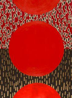 Watermelon Sundown, 22 by 30 inches, Acrylic on paper. At Saltman Art Associates, Oak Park, CA. Form www.kazaan.com.