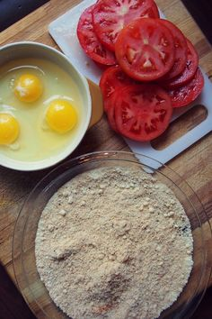 Healthy Fried Tomatoes - Almond Flour