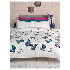 Buy F Home CASCADE BUTTERFLIES DUVET SB from our Single Duvet Covers range - Tesco.com