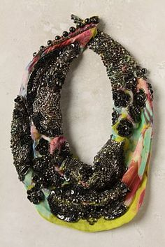 Cold Wave Scarf Necklace by anthropology. Love !