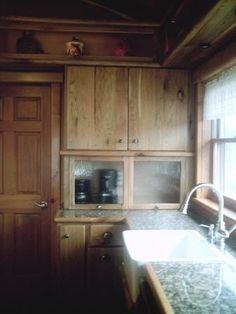 Rustic Butternut log cabin kitchen
