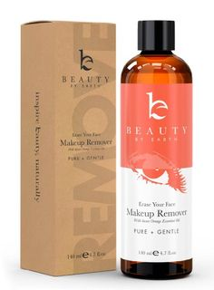 Makeup Remover - Organic & Natural Ingredients, Made in USA - Gentle, Oil Free, Liquid for Removing Eye & Face Make Up on Sensitive,…