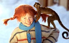 Pippi Longstocking - the original, not the 90's version - she was a kid, who lived on her own, with a monkey & a horse, no parents, didn't go to school, had a trunk of gold coins & fought pirates (and WON!!)!!!! She was my childhood hero.