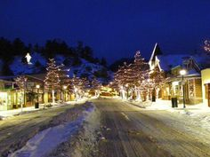 Estes Park, Colorado~Christmas in Estes Park. This is a great place and a great time of the year to go for a intimate romantic vacation! I personally loved driving into the mountains looking for herds of elk to photograph!