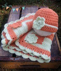 Blanket Newborn Baby ChevronCrochet Hat by silverboutiquecrafts, $34.00