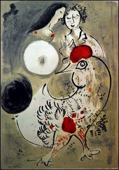 2 - Beaune Musée des Beaux-Arts - Lithographie de Marc Chagall Deux femmes et une poule by melina1965, via Flickr