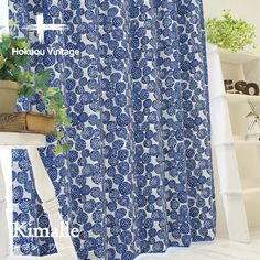 【北欧VINTAGE】 2級遮光のおしゃれな北欧デザインカーテン <キマレ ブルー> - 100サイズ既製カーテン通販専門店|びっくりカーテン