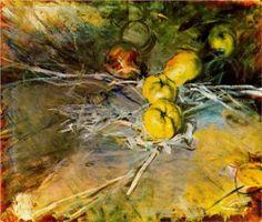 Apples by Italian painter Giovanni Boldini (1842-1931). Giovanni Boldini, Apple Painting, Italian Painters, Edgar Degas, Art Academy, Italian Renaissance, Still Life Art, Manet, Italian Art