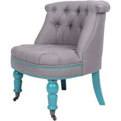 Love this chair.  I think I could do this to a thrift store find.    Product: Accent chair  Constructio...