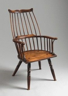 Robert Young Antiques - Collection. ''Lobster Pot'' Form Windsor Comb Back Chair #FolkArt