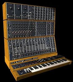 This ginormous synthesizer looks like an old switchboard. Just imagine all the cool sounds it must make!