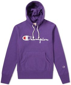 A versatile offering from the masters of heritage sportswear, Champion sees its Reverse Weave hoody in a signature colour-way this season. Champion Wear, Champion Clothing, Trendy Hoodies, Script Logo, Mens Sweatshirts, Logo Hoodies, Ribbed Top, Clothes, Outfits