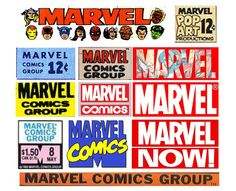 Various Marvel Comics logos and masthead treatments over the years...