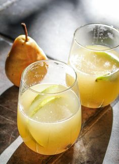 Mulled Pear Sangria {Katie at the Kitchen Door}