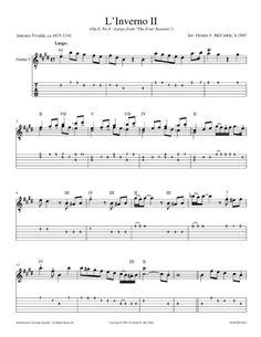 L'Inverno Guitar Sheet Music, Classical Period, Digital Sheet Music, Guitar Tabs, Classical Guitar, Four Seasons, Winter, Tablature, Music