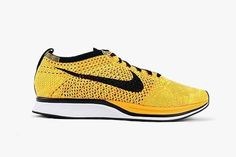 Nike Flyknit Racer (Yellow/Black/White)