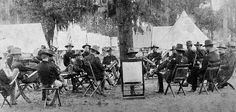 Officers in planning meeting Tampa Spanish-American War