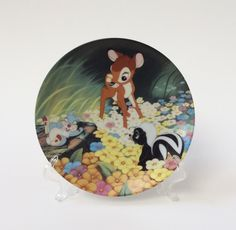 """Walt Disney Bambi Collector Plate, """"Bambi's New Friends"""" Porcelain Plate, Knowles Fine China Collector Plate, Plate 2 in Series by EastWestVintage1 on Etsy"""
