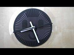 moire seconds prototype - optical illusion wallclock - YouTube