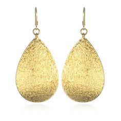 "Gold sparkle earrings. ""I love da sparkelz!!!"""