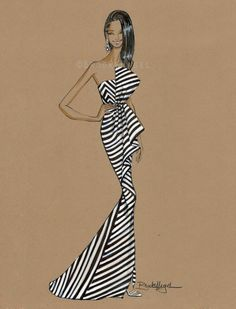 Chanel Fashion Illustration ~ by: Brooke Hagel~❥
