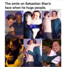 a tragedy: me and sebastian stan, both people who embrace hugs, are not currently, nor have we ever been, hugging each other (credit to sebuckstianstan)