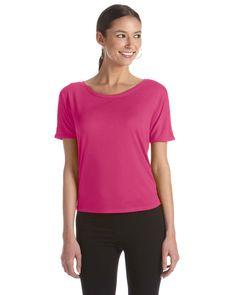 Bella + Canvas Ladies' Flowy Open Back T-Shirt B8871 BERRY
