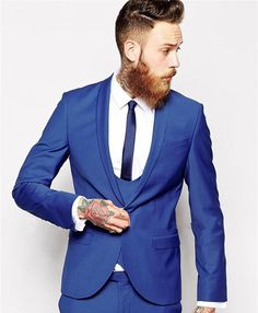 Stellar royal blue slim fitted suit. Looks great on nearly any occasion, especially when you want to paint the town red. Make sure you complete this suit with your 4 chains, check out our watches and