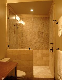 mediterranean bathroom walk in shower design pictures remodel decor and ideas - Remodeling Bathroom Shower Ideas
