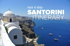 Check out our 4 day Santorini Itinerary, what we loved, what we would do differently next time, and what you can't miss on your trip to Santorini!