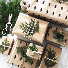 Last minute Christmas Gift Wrapping Ideas using twine Christmas Gift Wrapping, Diy Christmas Gifts, Winter Christmas, All Things Christmas, Christmas Time, Holiday Gifts, Christmas Decorations, Christmas Cookies, Christmas Truck