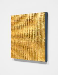 Mathias Goeritz: Mensaje, 1963. Perforated gold metal on painted wood. 19 2/3 x 19 2/3 in. (50 x 50 cm). This work is accompanied by a certificate of authenticity signed by Lily Kassner and dated October 21, 2015.