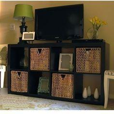 New IKEA Expedit TV Stand Entertainment Center Multi Use Shelving Unit Black | eBay