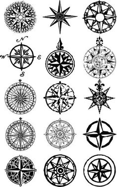 Wind roses - nautical compass vector grunge collection Vinyl Wall Mural ✓ Easy Installation ✓ 365 Day Money Back Guarantee ✓ Browse other patterns from this collection!