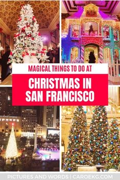 Christmas in San Francisco is the most wonderful time of the year! Check out this epic guide for the most fun and festive things to do in San Francisco during the holidays, from ice skating, tree lightings, holiday decorations, events, performances, and more!