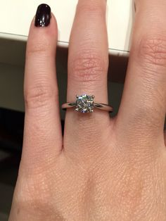 Solitaire Waskoll White Gold and Diamond