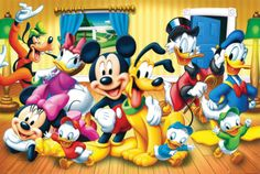 Mickey-Mouse-Friends-Disney-24x36-Poster-Minnie-Goofy-Pluto-Donald-Daisy-Duck