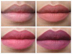 Lemme Swatch It!: LA Girl Matte Flat Finish Pigment Gloss in Fleur, Bazaar & Rebel Lip Swatches